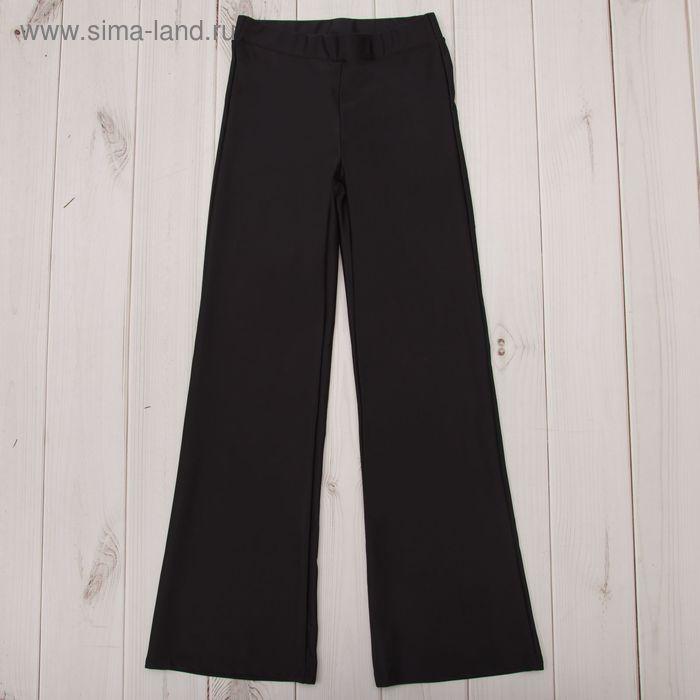 Брюки гимнастические расклешенные, рост 122 см (7 лет), цвет черный