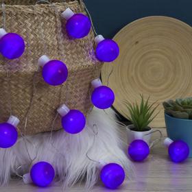 """Гирлянда """"Метраж"""" с насадкой """"Большие шарики 5 см"""" 6 м, LED-20-220V, фиксинг, ФИОЛЕТОВЫЙ"""