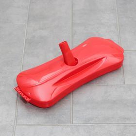 Щетка роликовая для чистки ковровых покрытий, 3 ролика, цвет МИКС