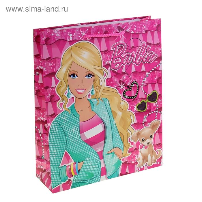 """Пакет подарочный """"Барби"""" 28х34 см, Mattel Barbie"""