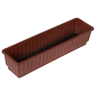 Ящик для цветов, длина 59 см, цвет коричневый