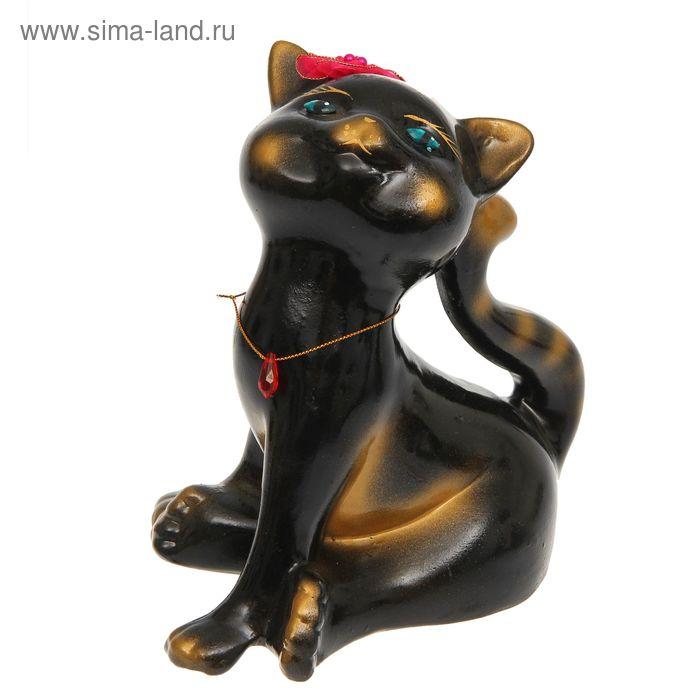 "Копилка ""Кошка Анфиса"" чёрная, глянец"