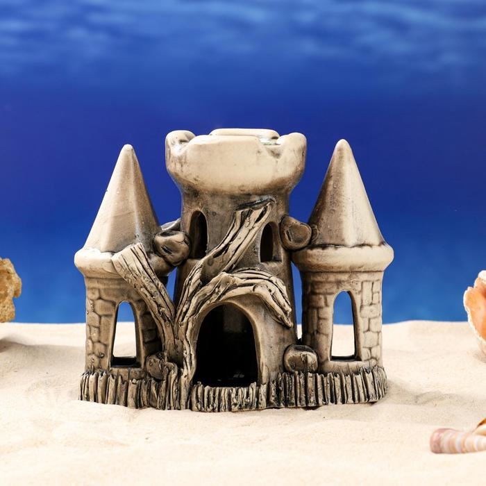 """Декорации для аквариума """"Замок в окружении башен"""" микс"""