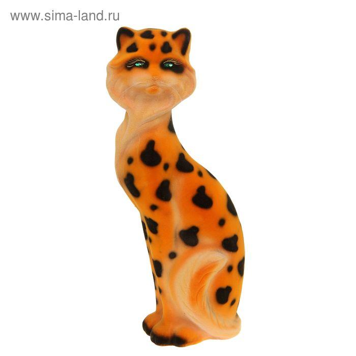 """Копилка """"Кошка Матильда"""" большая, флок, леопард"""