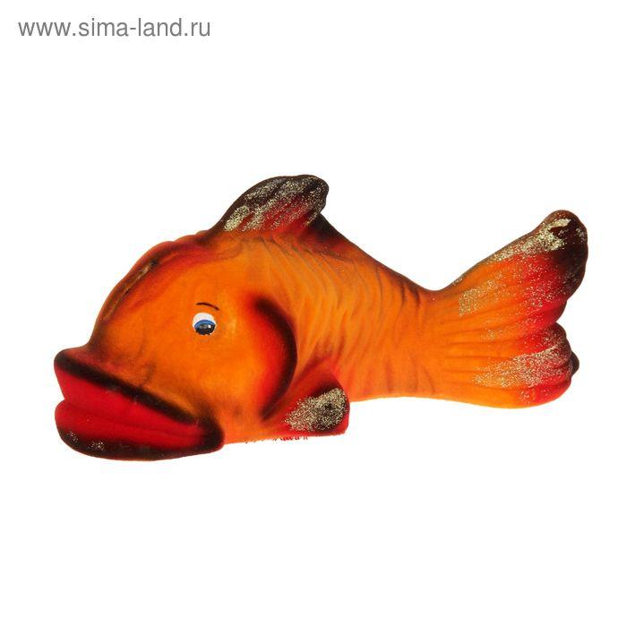 """Копилка """"Рыбка"""" флок, рыжая"""
