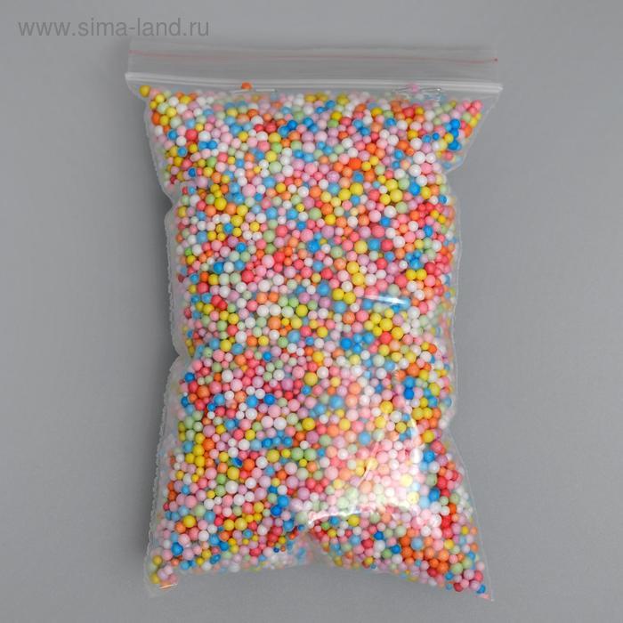 """Наполнитель декоративный, """"Волшебные шарики"""" разноцветные, 1-3мм, 3гр"""