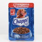 Влажный корм Chappi для собак, с говядиной по-домашнему, пауч, 100 г