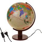 Глобус сувенирный с подсветкой, d=32 см, h=45 см, политическая карта, английский язык