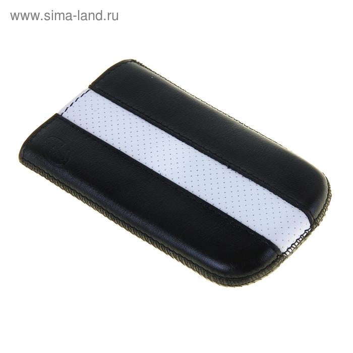 """Чехол с ремешком комбин """"Time"""" 6 61*115*14, для Samsung черный с белым"""