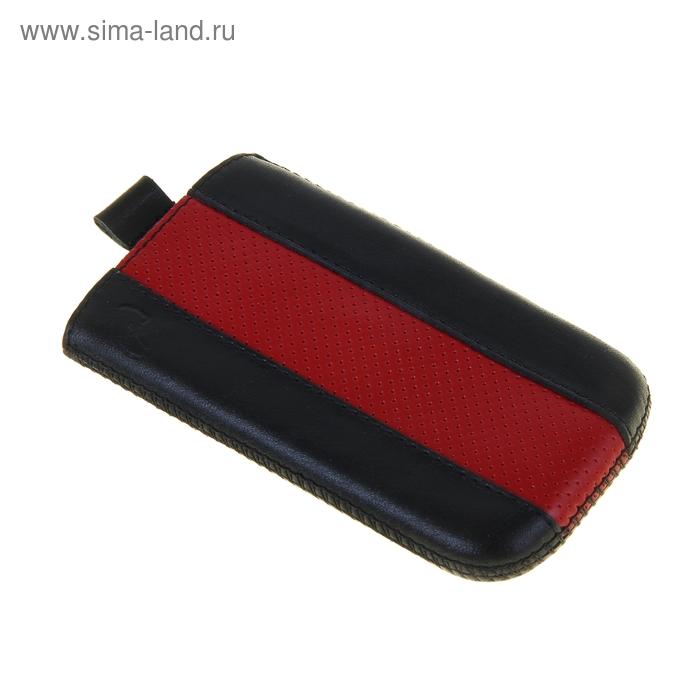 """Чехол с ремешком комбин """"Time"""" 14 62*121*11, для Nokia черный с красным"""