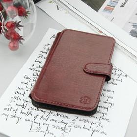 """Чехол-книжка Norton для телефона, 4.9""""-5.2"""", на клейкой основе, цвет бордовый"""