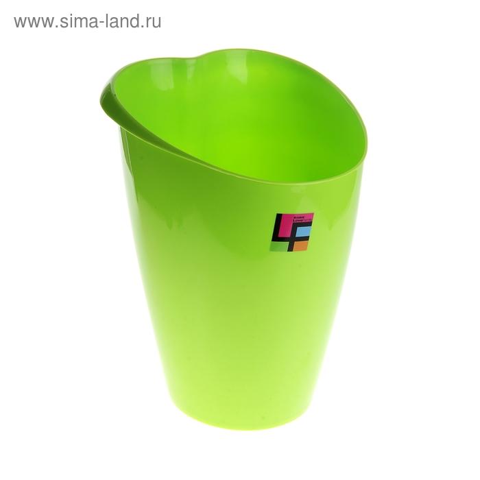 """Ведро для мусора  25*23*33 см """"Сердце"""", зеленое"""