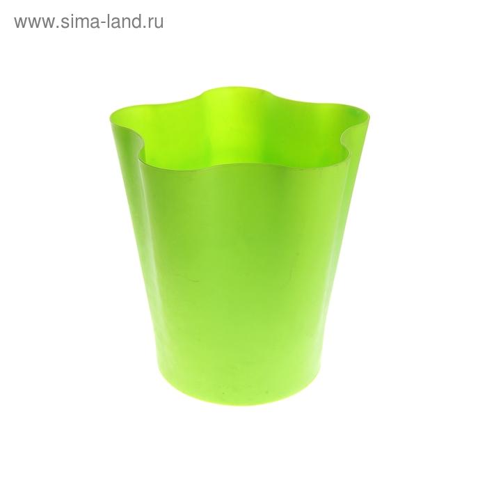 """Ведро для мусора 25*25*28 см """"Цветок"""", зеленое"""