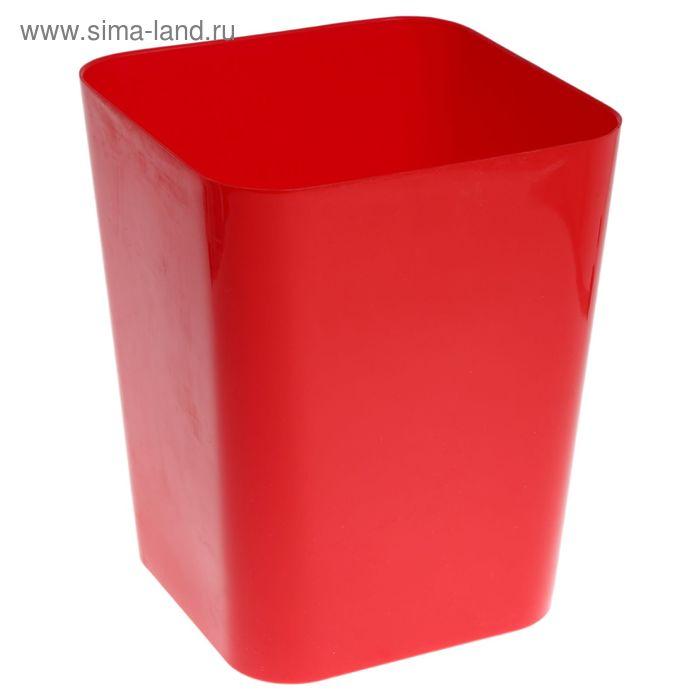 Ведро для мусора, цвет красный