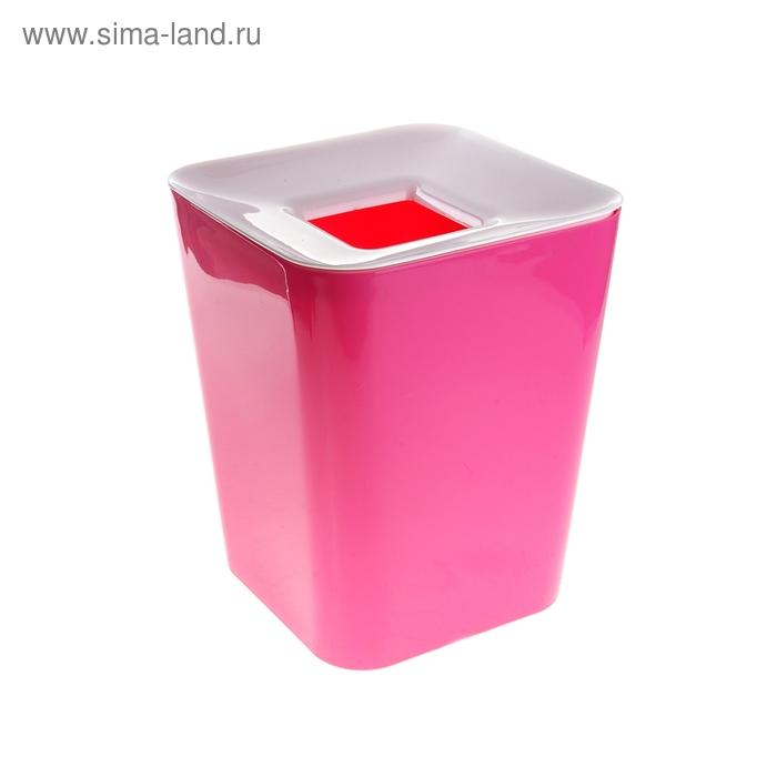 Ведро для мусора, цвет розовый