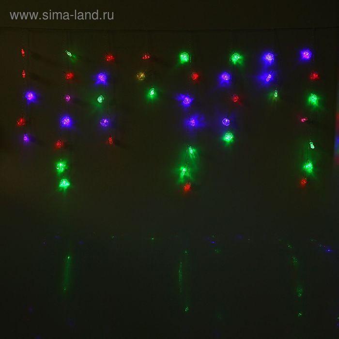 "Гирлянда ""Бахрома"" Ш:2.8 м, В:0,6 м, силикон, ""Колокольчики"" 3*2,5 см, LED-100-220V, МУЛЬТИ"