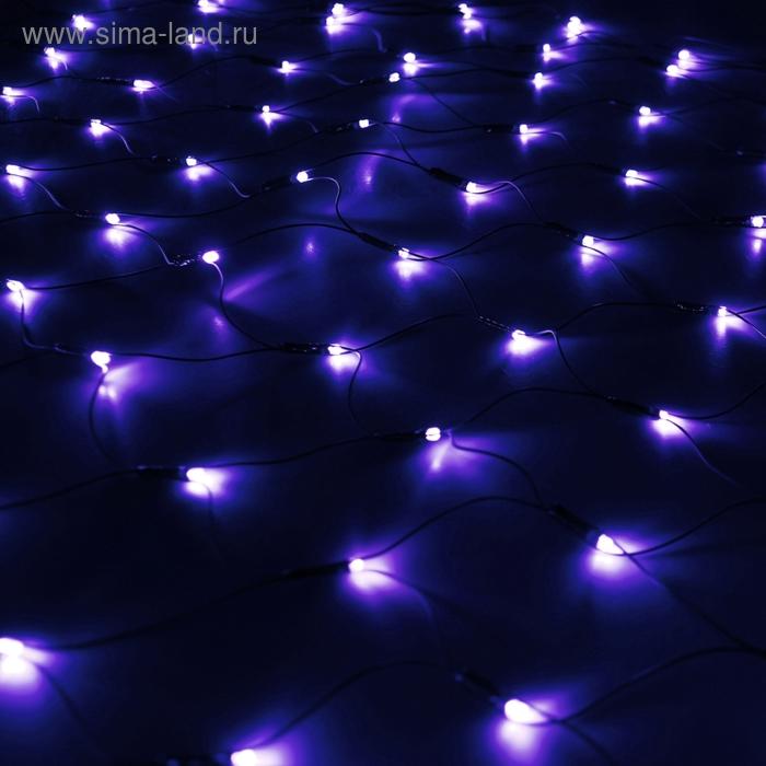 """""""Сетка"""" Ш:1 м, В:0,9 м, нить темная, LED-120-220V, контр. 8 р, СИНИЙ"""