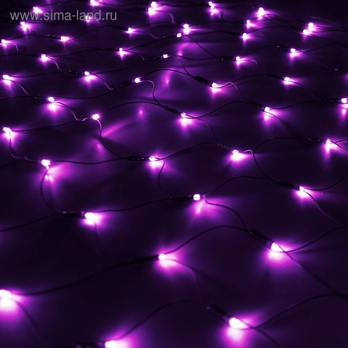 """""""Сетка"""" Ш:1 м, В:0,9 м, нить темная, LED-120-220V, контр. 8 р, ФИОЛЕТ"""