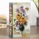 """Сейф-книга шёлк """"Нежные цветы с пчелами"""""""