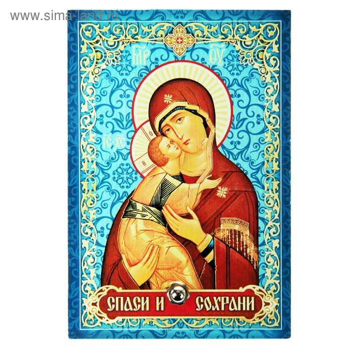 """Икона на стекле """"Владимирская Икона Божией Матери"""""""
