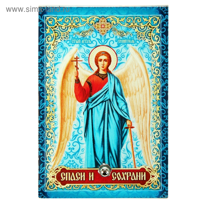 """Икона на стекле """"Святой Ангел - хранитель"""""""