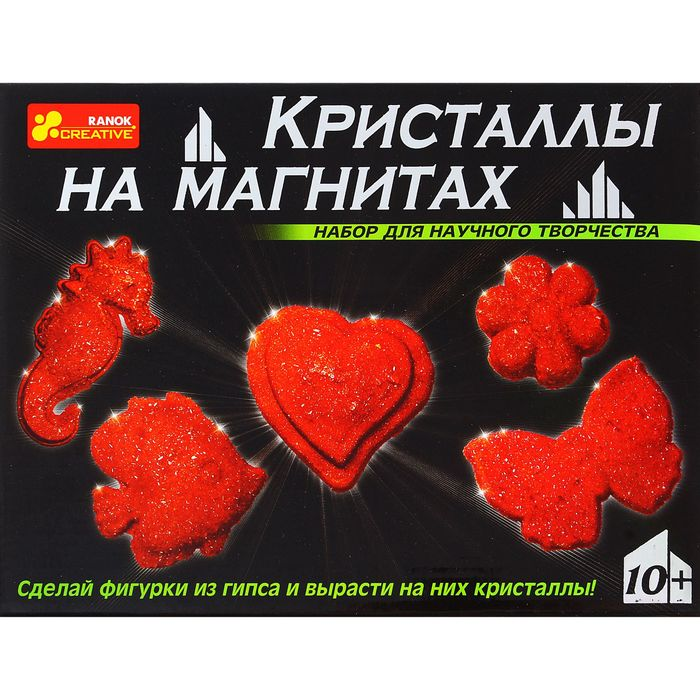 """Набор для опытов """"Кристаллы на магнитах"""", цвет красный"""