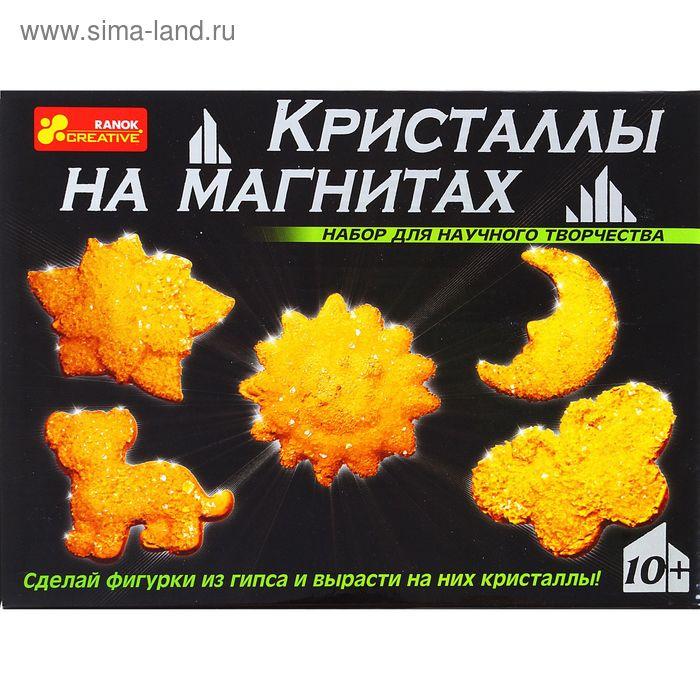 """Набор для опытов """"Кристаллы на магнитах"""", цвет жёлтый"""