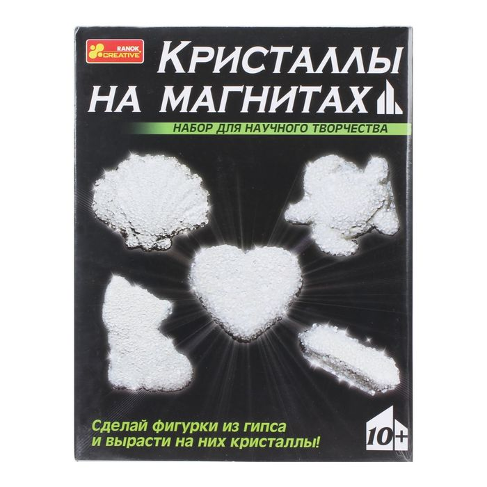 """Набор для опытов """"Кристаллы на магнитах"""", цвет белый"""
