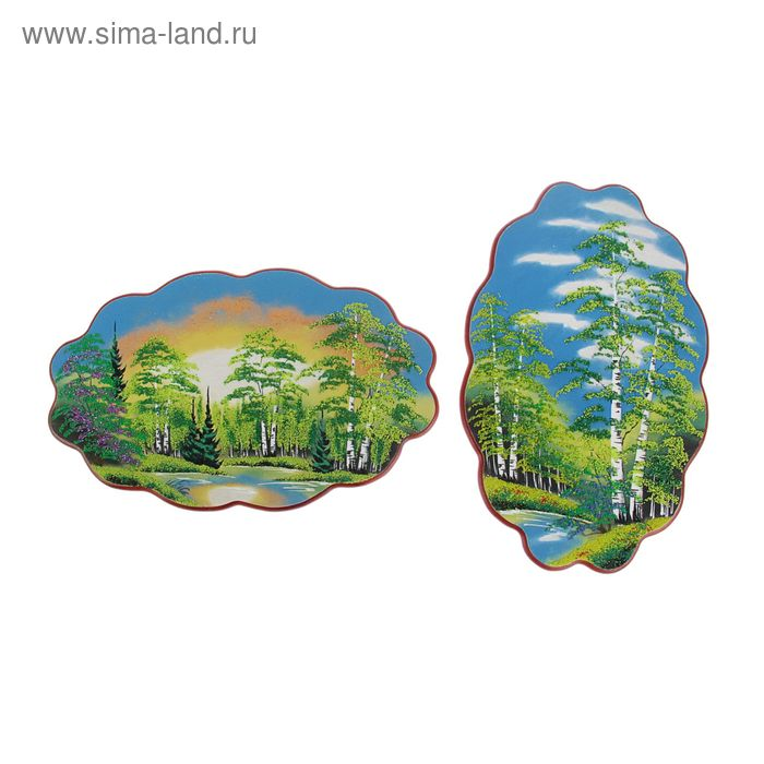 """Картина """"Лето"""" в форме облака №4-1 30х45х2 см каменная крошка"""