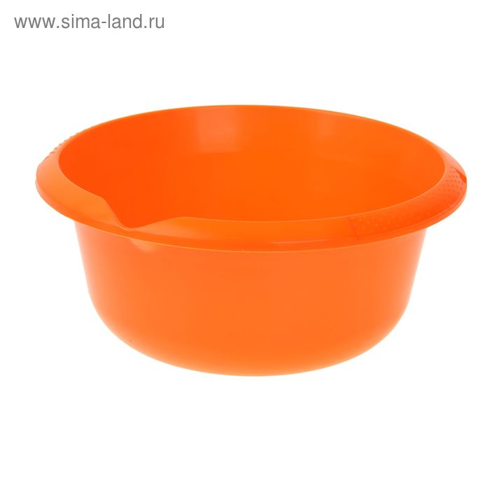 Миска 5 л, цвет мандарин