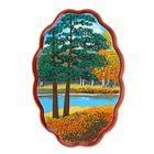 "Картина ""Осень"" Фанера овальная малая №1-1 12,5х18,5х2 см 151101 каменная крошка"