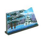 """Панно """"Зима"""" на спиле камня 11 х 20 х 3 см, каменная крошка"""