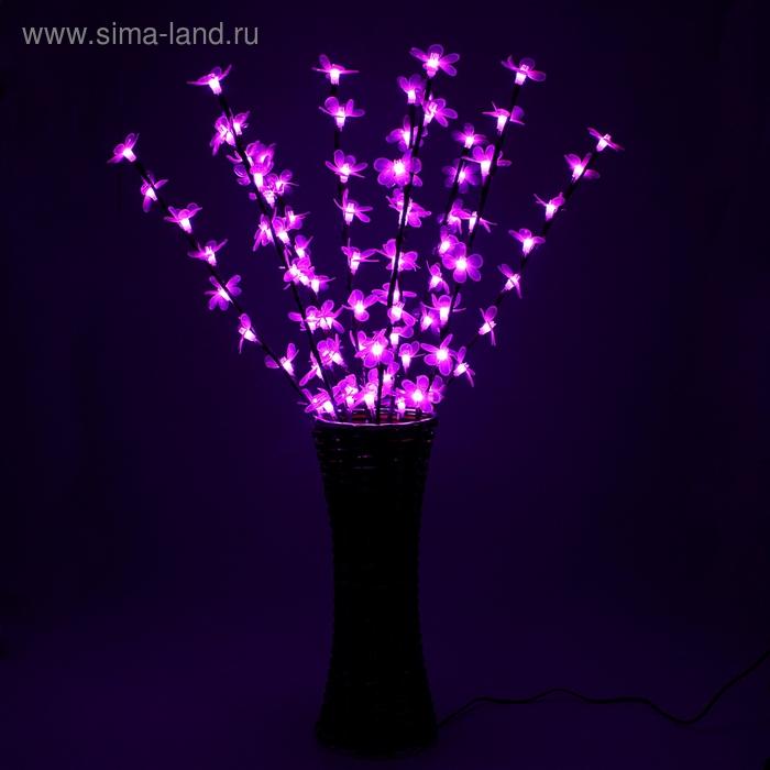 "Светодиодная ваза 80х16 см, ""Цветок сакуры"" 72 LED, 220V, фиксин, РОЗОВЫЙ"