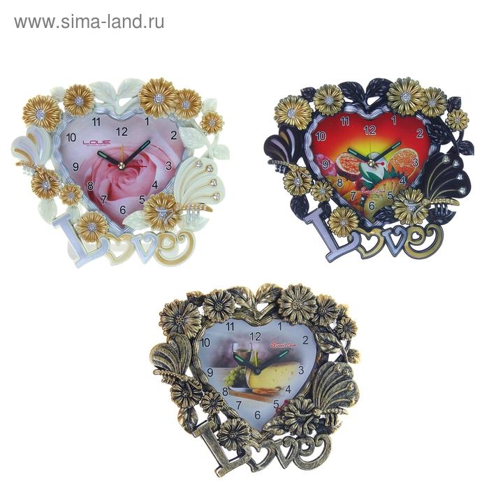 """Будильник """"Цветочная любовь"""", цвета МИКС"""
