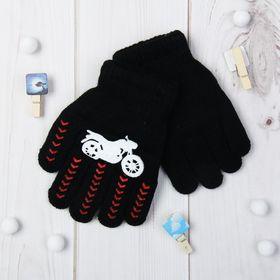"""Перчатки детские """"Байк"""", размер 16, цвет чёрный 65479"""