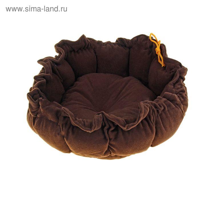 "Лежанка на затяжке ""Гнездо"", 55 х 8 см, коричневое"