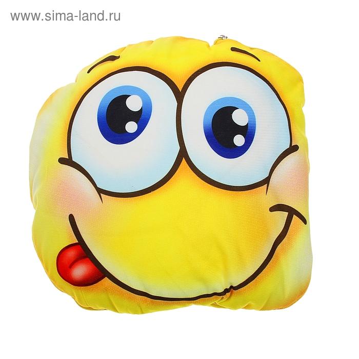 """Подушка-одеяло Collorista """"Смайл"""", размер 40х40 см (110х140 ± 5 см), 350гр/м2"""