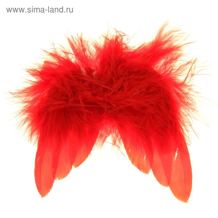 Крылышки декоративные перьевые, красные