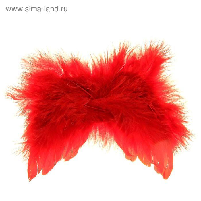 Крылышки декоративные с перьями, красные