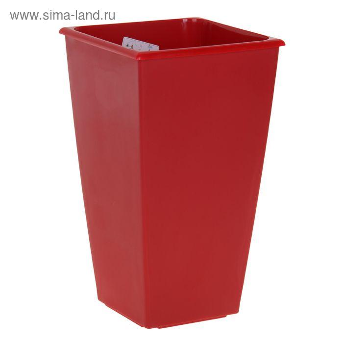 Горшок для цветов Carre 19(10,5) л, цвет красный