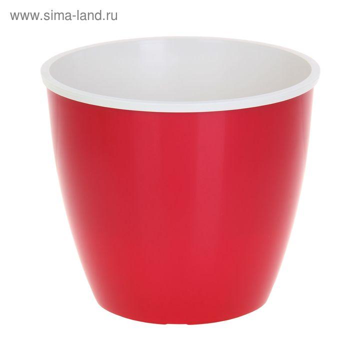 Горшок для цветов 6,5 л Les Couleurs, цвет красный/кремовый
