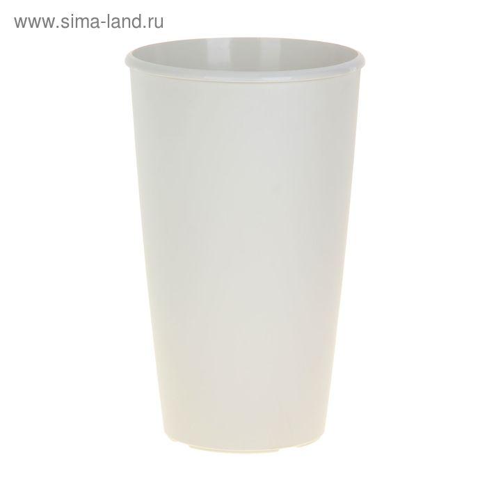 Горшок для цветов Le cone 41(18) л, цвет кремовый