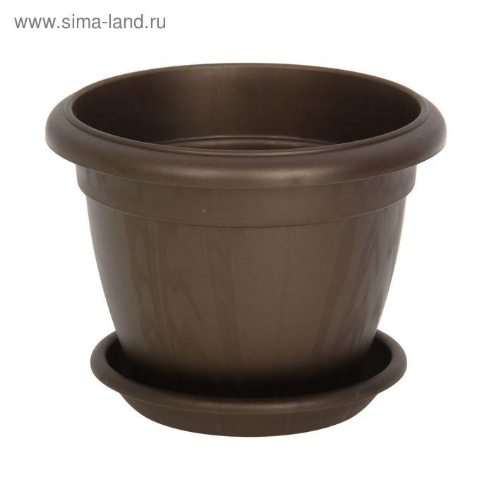 Горшок для цветов Le Jardin, d=20 см, коричневый бронзовый