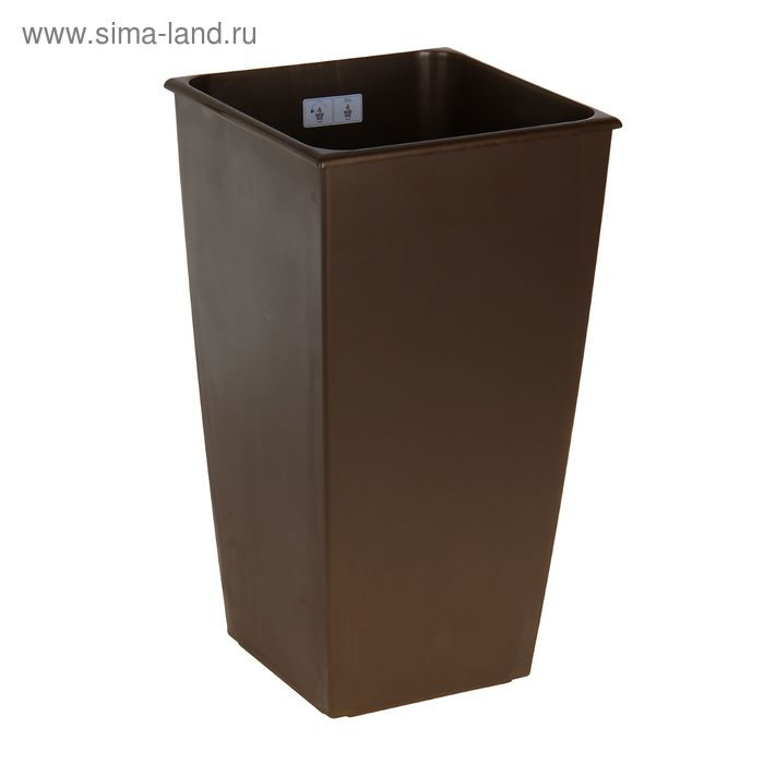 Горшок для цветов Carre 45(21) л, цвет коричневый
