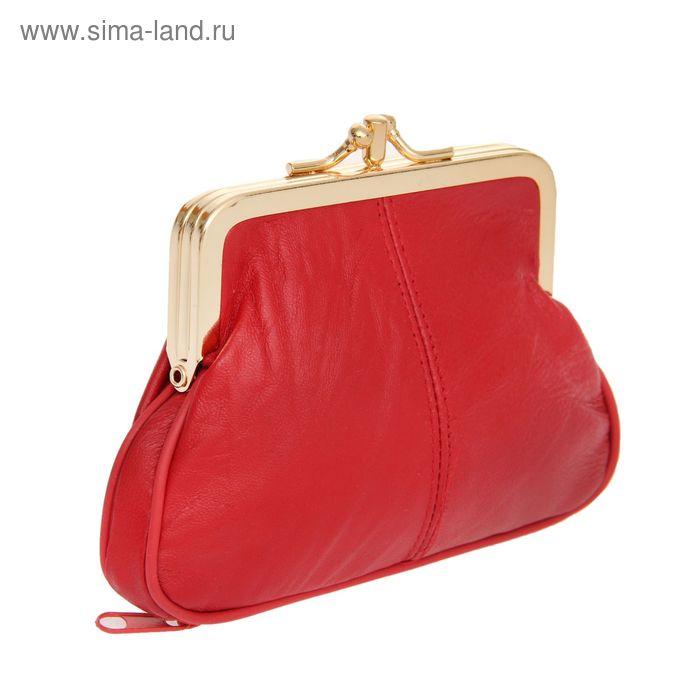 """Косметичка-ассорти """"Анабель"""", 2 отдела, наружный карман, цвет красный"""