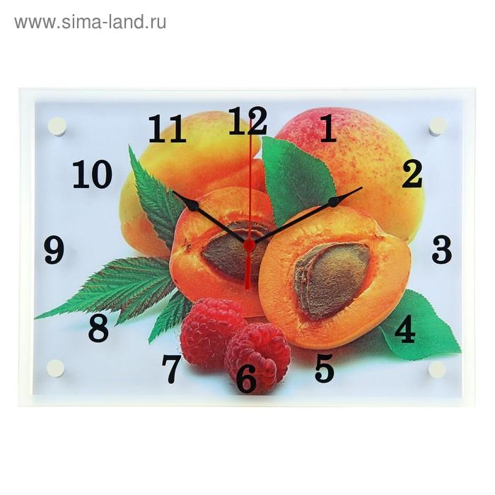 "Часы настенные прямоугольные ""Абрикосы"", 25х35 см"