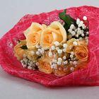 Салфетка для декора и цветов квадратная 48х48 см ярко-розовый