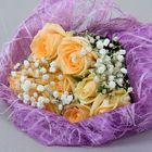 Салфетка для декора и цветов квадратная 48х48 см сиреневый