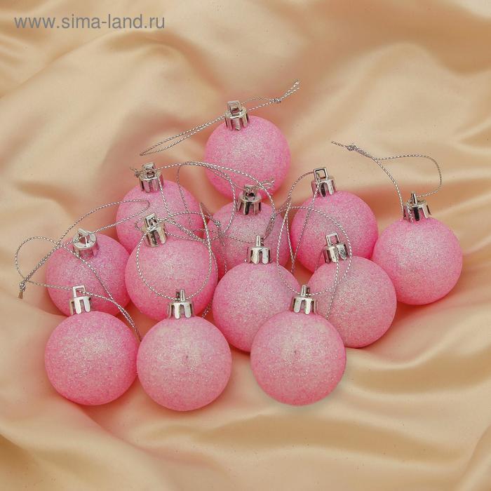 """Новогодние шары """"Розовый блеск"""" (набор 12 шт.)"""