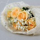 Салфетка для декора и цветов квадратная 48х48 см отбеленый